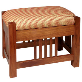 Amana Mission Upholstered Slat Footstool