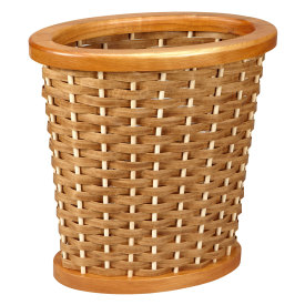 Oval Woven Wastebasket