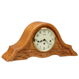 Tambour Clock w/ Carving