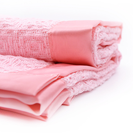 Diamond Weave Baby Blanket - Pink