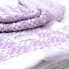 Diamond Weave Baby Blanket - Bleach/Lavender