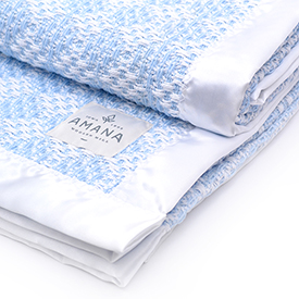 Diamond Weave Baby Blanket - Bleach/Blue
