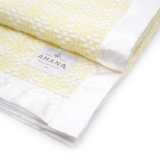 Diamond Weave Baby Blanket - Bleach/Yellow