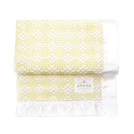 Diamond Weave Baby Blanket - Bleach/Yellow