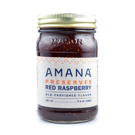 Amana Red Raspberry Preserves  17.5 oz.