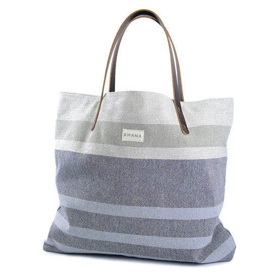 ECO2 Tote South Stripe - Navy Marl