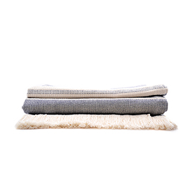 Throw Navy Woolen Mill - Amana Shops