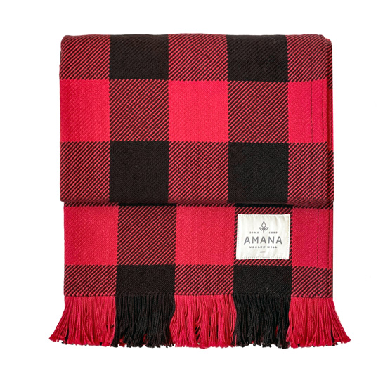 Black & Red Rob Roy Check Cotton Throw