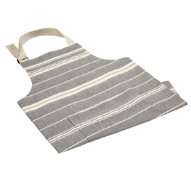 Chef Apron - Navy/Natural Amana Weave