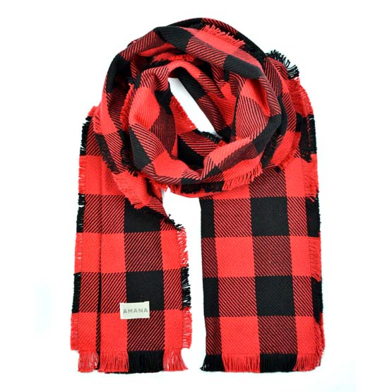 Rob Roy Cotton Scarf - Red/Black