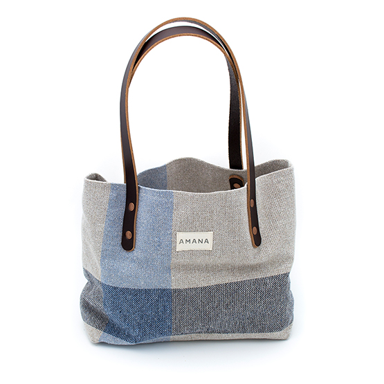 Eco2 South Stripe Small Tote - Navy Marl