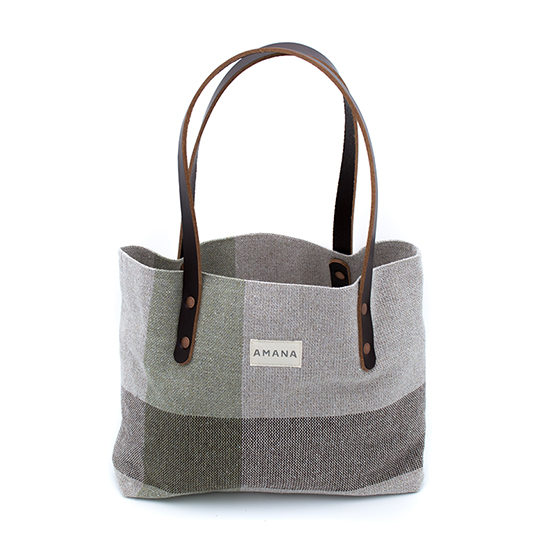 Eco2 South Stripe Small Tote - Dark Linen