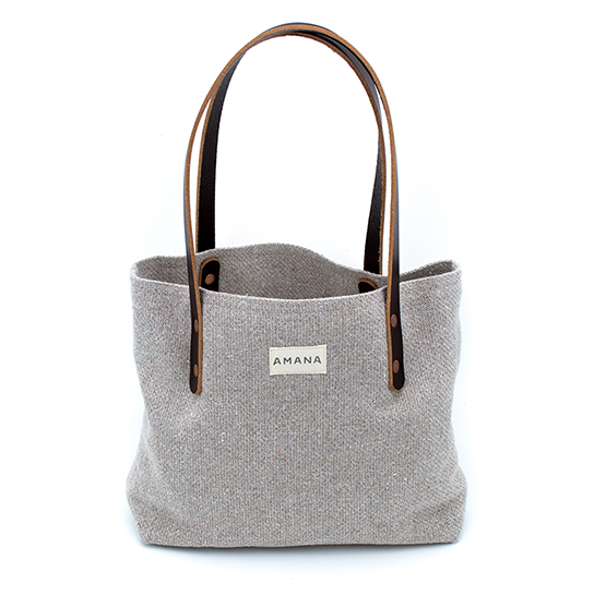Eco2 Small Tote - Solid Dark Linen