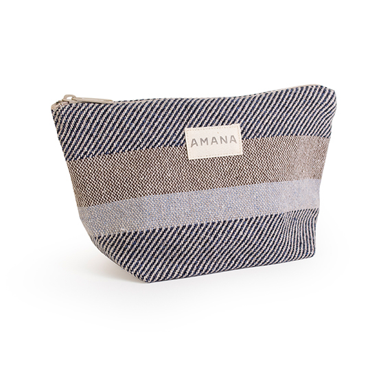 Eco2 Colony Stripe Cosmetic Bag - Navy Marl