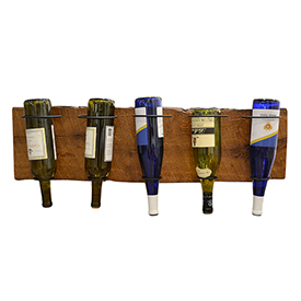 5 Wine Bottle Holder - Barn Wood