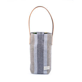 ECO2 Wine Tote Colony Stripe - Navy Marl