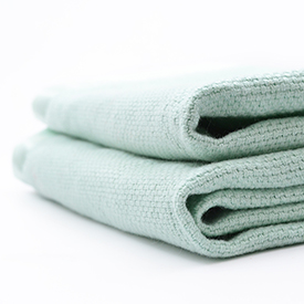 Classic Basket Weave Baby Blanket - Mint