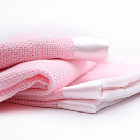 Classic Basket Weave Baby Blanket - Pink