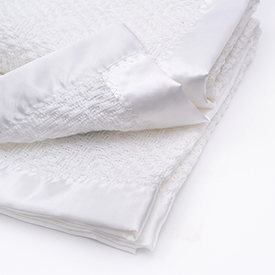 Diamond Weave Baby Blanket - Bleach