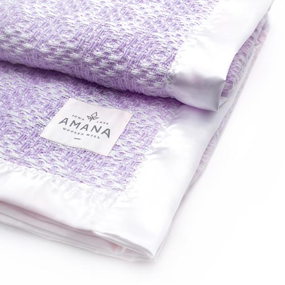 Diamond Weave Baby Blanket - Bleach/Lavender