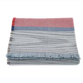 Space Dye Cotton Throw - Grey