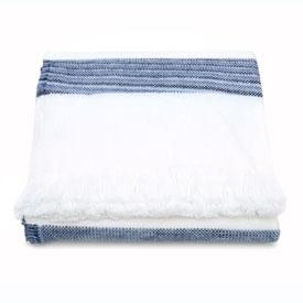 Space Dye Cotton Stripe - Bleach/Navy