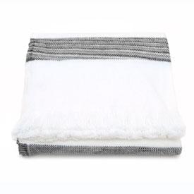Space Dye Cotton Stripe - Bleach/Grey