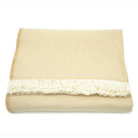 Cotton Designer Series Throw- Tan/White