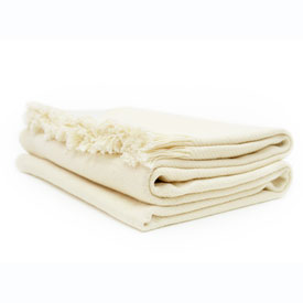 Solid Cotton Throw - Natural