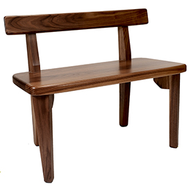 Amana Slab Bench - Walnut