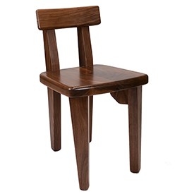 Amana Slab Chair - Walnut