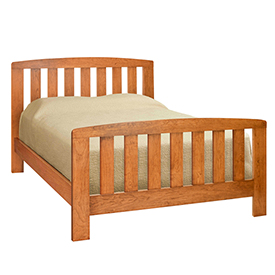 Brookview Slat Bed - Queen