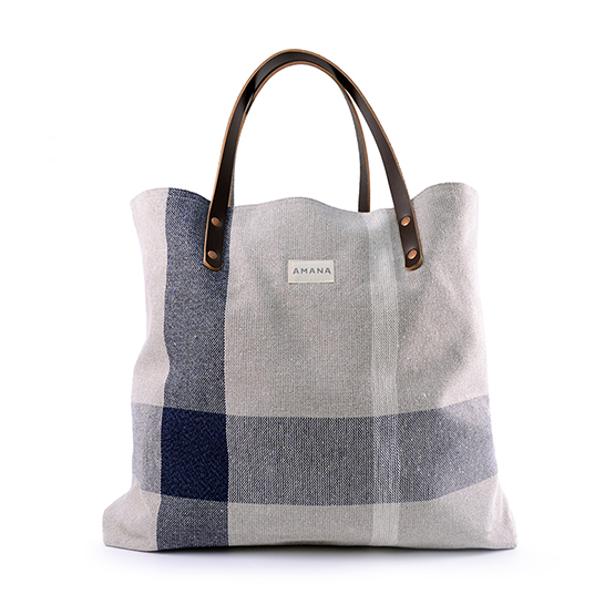 ECO2 Denim Plaid Tote