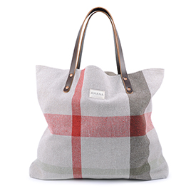 ECO2 Current Plaid Tote
