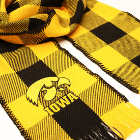 Iowa Hawkeye Rob Roy Cotton Scarf - Black & Gold