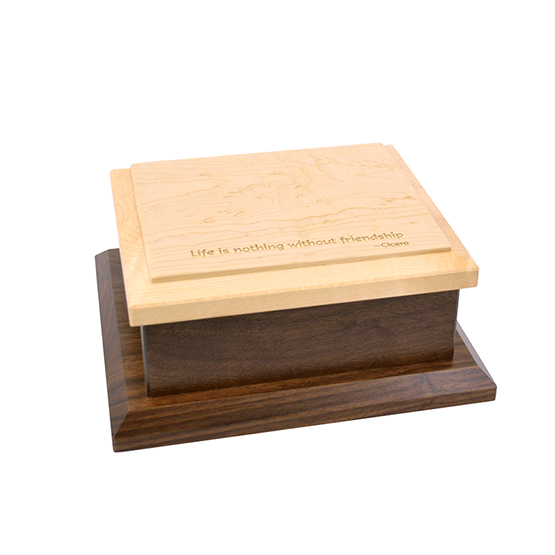 Amana Small Keepsake Box Engraved - Life without Friendship