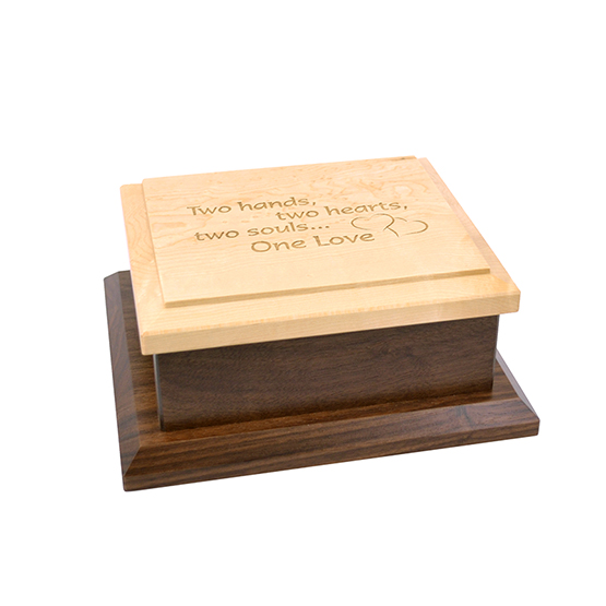 Amana Small Keepsake Box Engraved - One Love