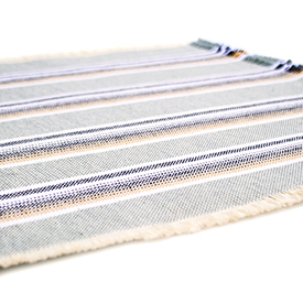 Casual Cotton Placemats Native Pewter - Set of 2