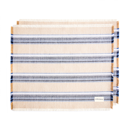 Casual Cotton Placemats Native Tan - Set of 2