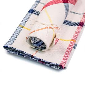 Window Pane Tea Towel & Dish Cloth Set - Plaid