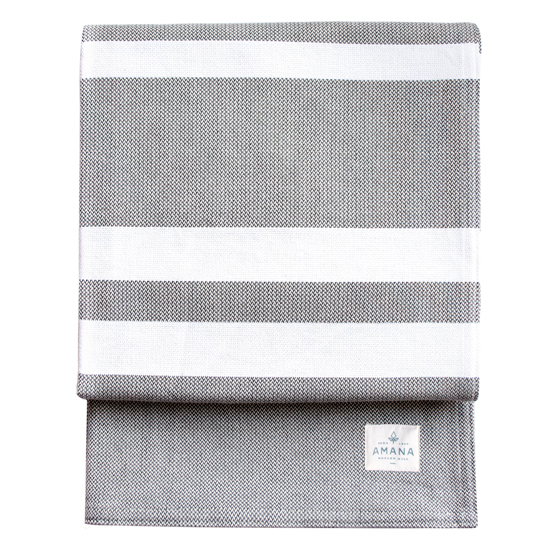 Striation Bed Blanket - Gray/Natural