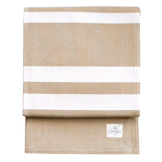 Striation Bed Blanket - Tan/Natural