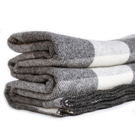 Big Roy Wool Throw - Gray/Natural