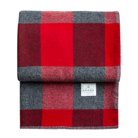 Big Roy Wool Throw - Red/Black