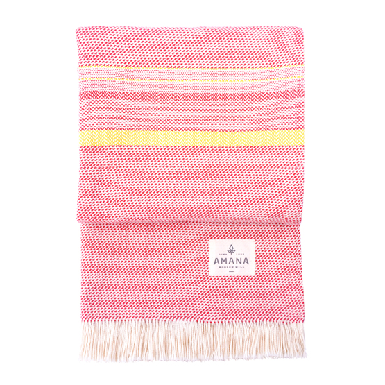 Beach Cotton Throw - Red/Yellow