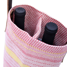 Beach Wine Tote - Red/Yellow