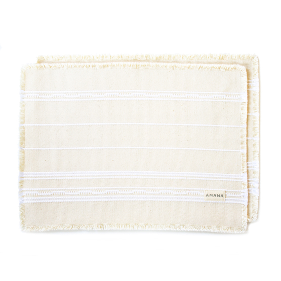 Casual Placemat Amana Weave Natural/Bleach - Set of 2