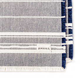 Casual Placemats Amana Weave Navy/Natural - set of 2