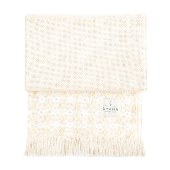 Lotus Cotton Throw - Bleach/Natural