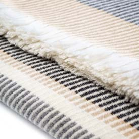 Wolter Ridge 2 Wool Throw - Tan